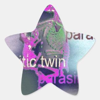 Cubierta CD parásita. (púrpura) Pegatina En Forma De Estrella