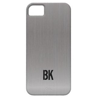 Cubierta cepillada plata moderna del iPhone 5 de l iPhone 5 Carcasa