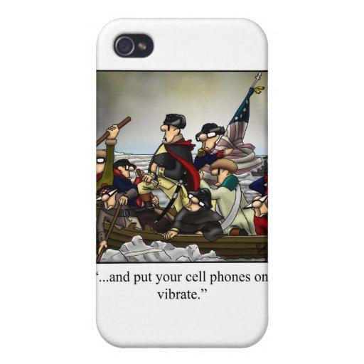 ¡Cubierta chistosa patriótica de Iphone del dibujo iPhone 4/4S Fundas