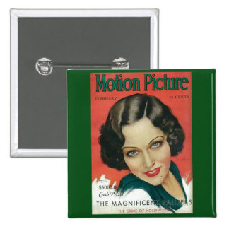 Cubierta cinematográfica de Gloria Swanson de Pin Cuadrado