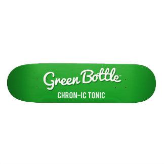 """Cubierta clásica del monopatín de la botella verde patineta 8 1/2"""""""