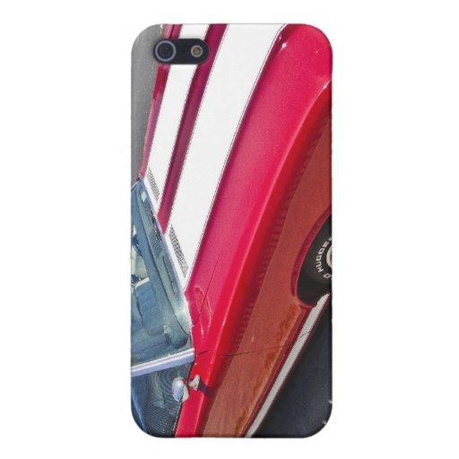 Cubierta clásica roja y blanca del iphone 4 del co iPhone 5 carcasas