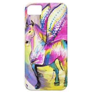 Cubierta coa alas del teléfono celular del caballo iPhone 5 carcasa