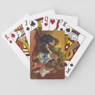 Cubierta colorida de los juegos del navidad del cartas de juego