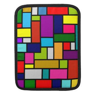 Cubierta colorida del iPad del mosaico/de la manga Funda Para iPads