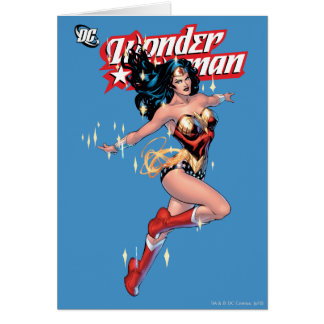 Cubierta cómica de la Mujer Maravilla Tarjeta