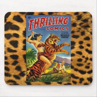 Cubierta cómica de la selva del vintage tapete de ratón
