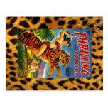Cubierta cómica de la selva del vintage tarjeta postal