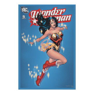 Cubierta cómica del vintage de la Mujer Maravilla Póster