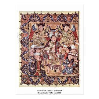 Cubierta con By Arabischer Maler de príncipe Enthr Tarjetas Postales