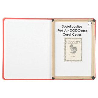 Cubierta coralina de DODOcase del aire del iPad de