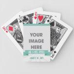 Cubierta de anillo de bodas de los favores de la t cartas de juego