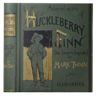 """Cubierta de """"aventuras de Huckleberry Finn"""" por la Azulejo Cuadrado Grande"""
