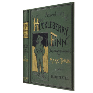 "Cubierta de ""aventuras de Huckleberry Finn"" por la Impresión En Tela"