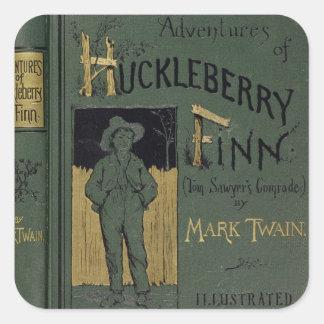 """Cubierta de """"aventuras de Huckleberry Finn"""" por la Pegatinas Cuadradases"""