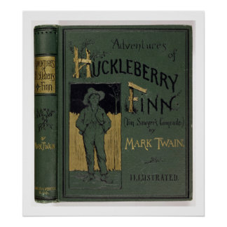 "Cubierta de ""aventuras de Huckleberry Finn"" por la Póster"