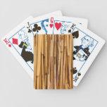 Cubierta de bambú de los palillos baraja cartas de poker
