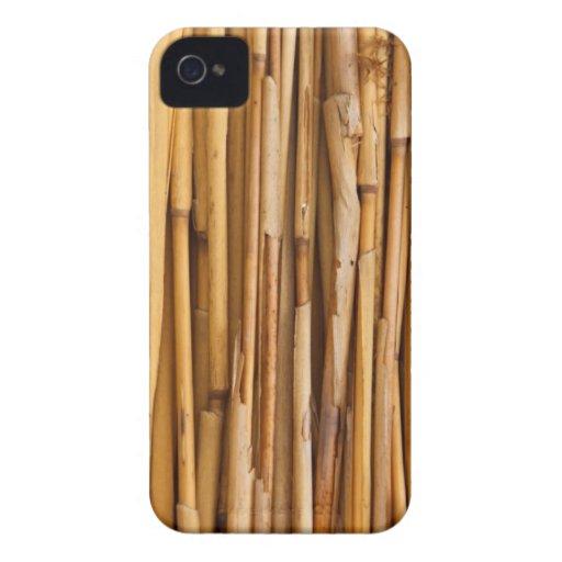 Cubierta de bambú de los palillos iPhone 4 funda