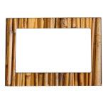 Cubierta de bambú de los palillos marcos magneticos de fotos