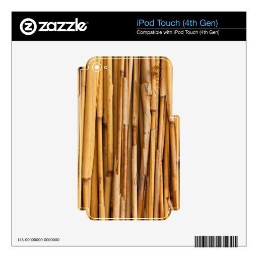 Cubierta de bambú de los palillos iPod touch 4G calcomanías