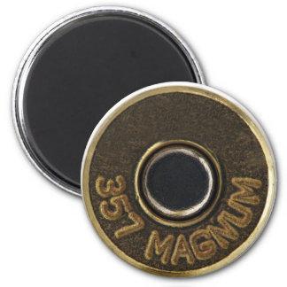 Cubierta de cobre amarillo de la cáscara de 357 bo imán redondo 5 cm