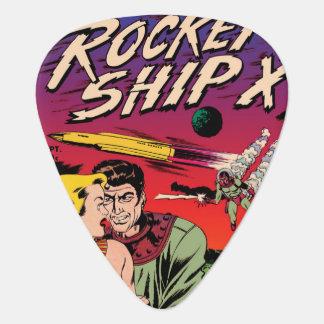 Cubierta de cómic de Sci Fi del vintage de la nave Plectro