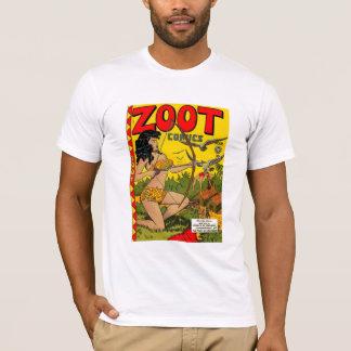 Cubierta de cómic del vintage de la camiseta Zoot