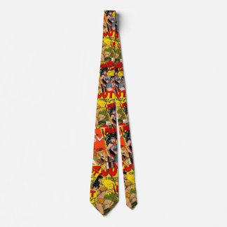 Cubierta de cómic del vintage del lazo 2b corbata