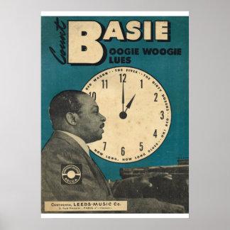 Cubierta de Count Basie de la partitura Poster