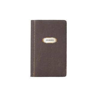Cubierta de cuero antigua del cuaderno de funda para libreta y libreta pequeña moleskine