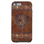 Cubierta de cuero medieval del caso 5 del iPhone 6