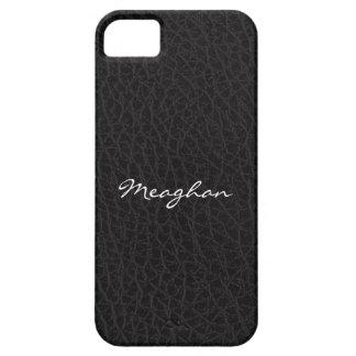 Cubierta de cuero negra del iPhone 5 de la textura Funda Para iPhone SE/5/5s