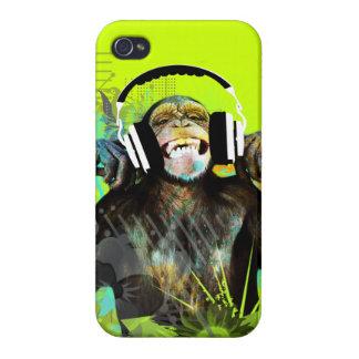 Cubierta de DJ Iphone del mono iPhone 4 Fundas