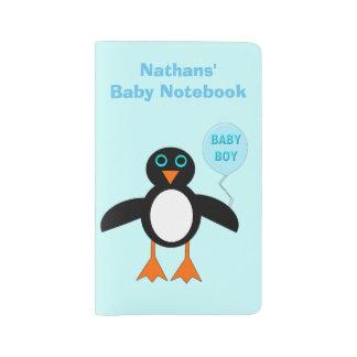Cubierta de encargo del cuaderno del pingüino azul funda para libreta y libreta grande moleskine