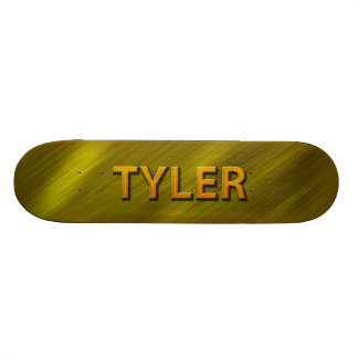 cubierta de encargo del monopatín del oro del tyle