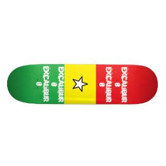 Cubierta de Excalibur 8-Star Tabla De Skate