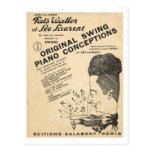 Cubierta de Fats Waller, conceptos originales del  Tarjeta Postal