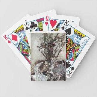 Cubierta de hadas de la danza de tarjetas barajas de cartas