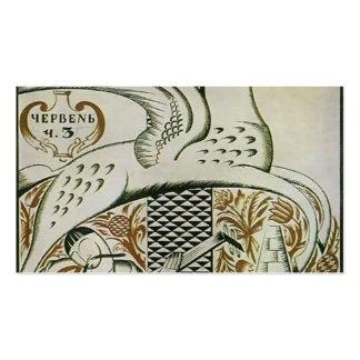 Cubierta de Heorhiy Narbut- de la revista 'Art Plantilla De Tarjeta De Visita