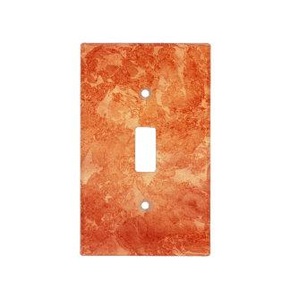 Cubierta de interruptor de la luz anaranjada de la placas para interruptor