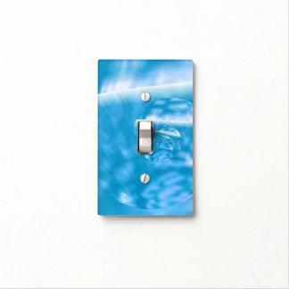 Cubierta de interruptor de la luz azul del arte de placa para interruptor