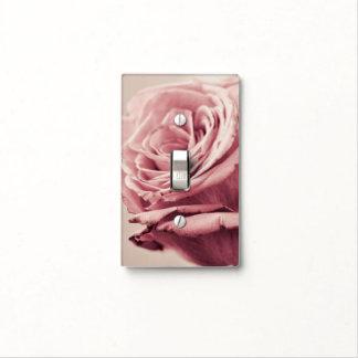 Cubierta de interruptor de la luz color de rosa po tapa para interruptor