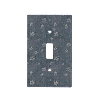 Cubierta de interruptor de la luz con textura azul tapas para interruptores
