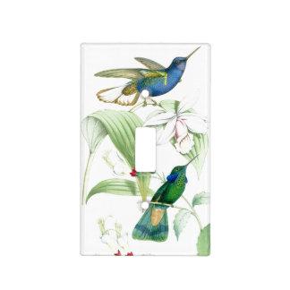 Cubierta de interruptor de la luz de los colibríes cubierta para interruptor