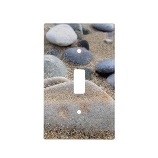 Cubierta de interruptor de la luz de los guijarros cubiertas para interruptor