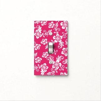 Cubierta de interruptor de la luz floral rosada de