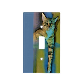 Cubierta de interruptor de la luz perezosa del gat cubierta para interruptor