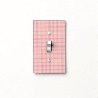 Cubierta de interruptor de la luz rosada de la placa para interruptor