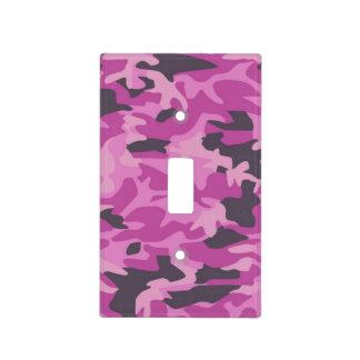Cubierta de interruptor de la luz rosada del camuf placa para interruptor