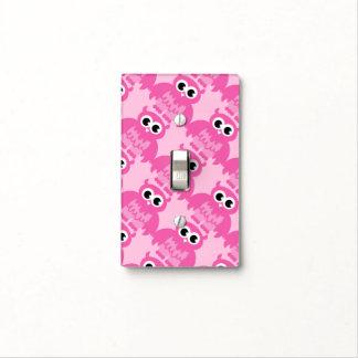 Cubierta de interruptor de la luz rosada linda del tapas para interruptores